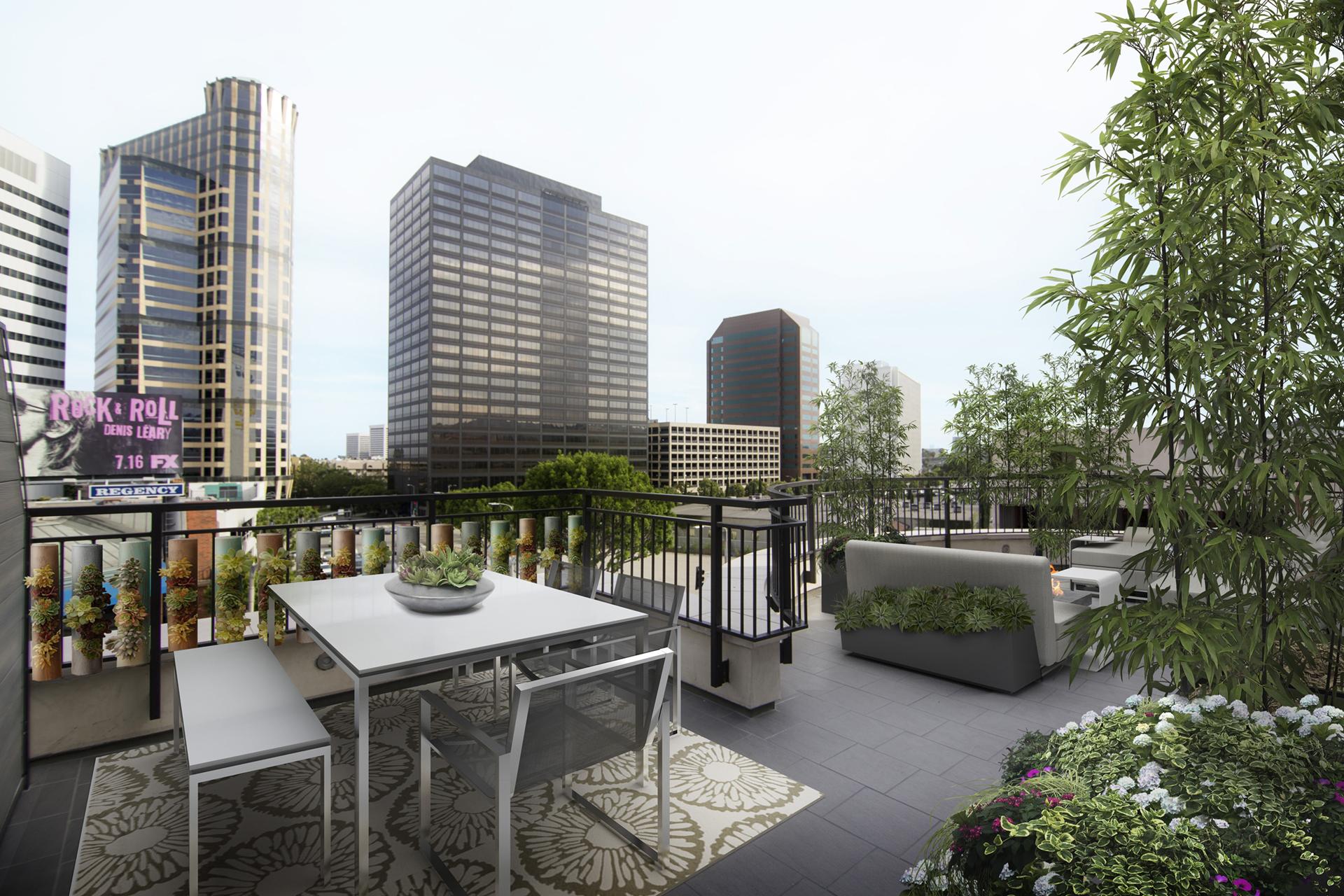 Outdoor Entertainment Rooftop Deck