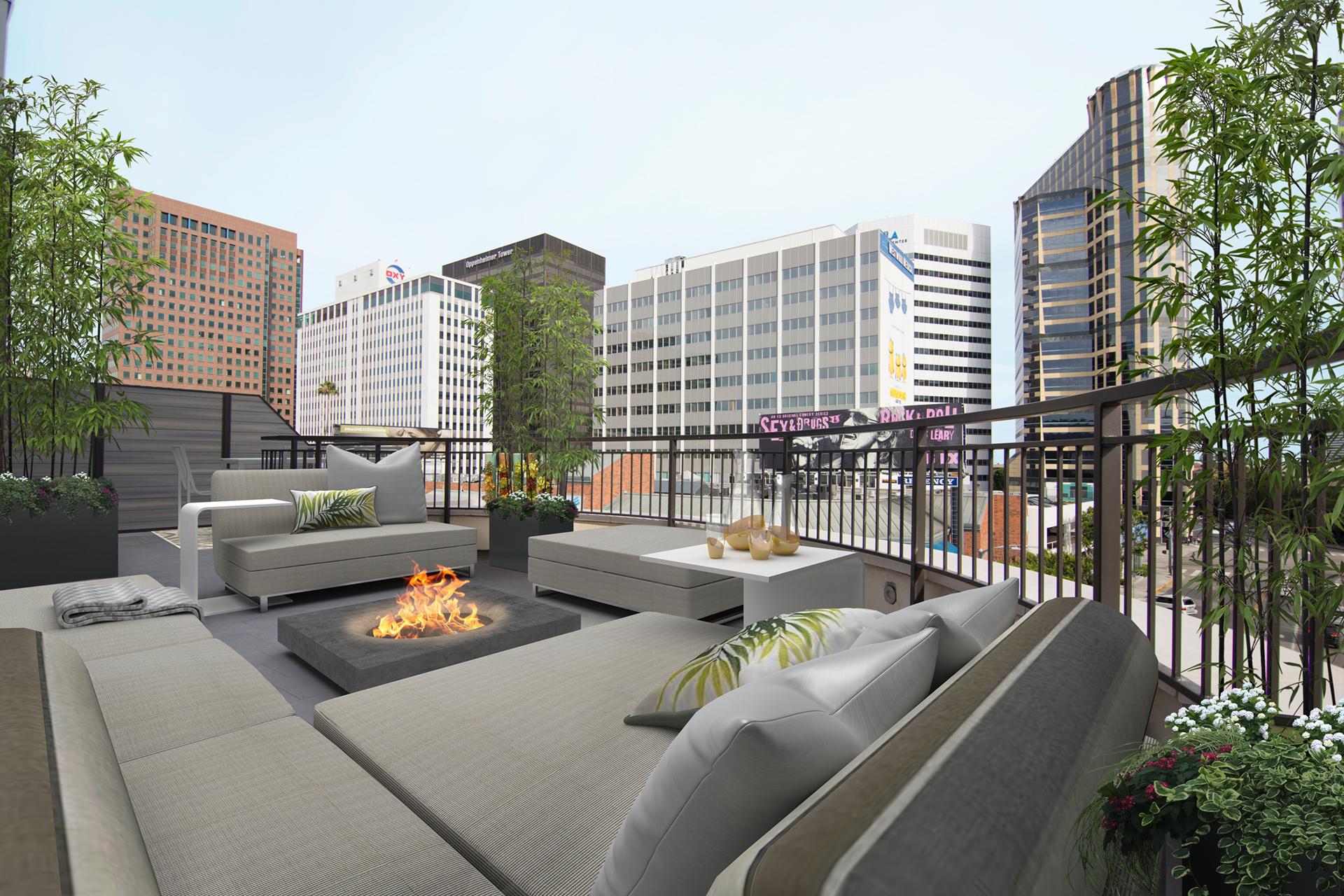 Rooftop Deck at Gayley & Lindbrook in Westwood