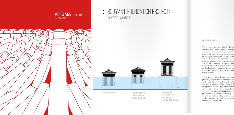 Elizabeth Fenuta's article Buoyant Foundation Project: Inevitably Amphibious published in the KTISMA Journal
