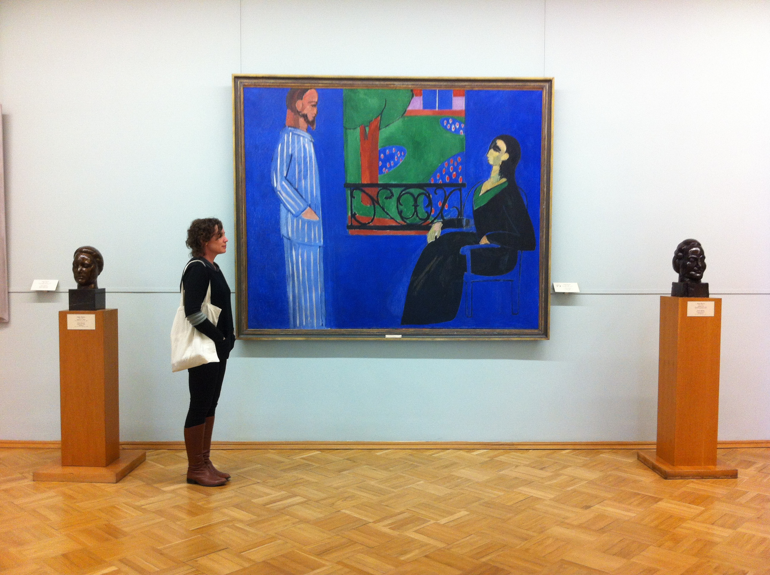 With Matisse, The Hermitage, St Petersburg, April 2014