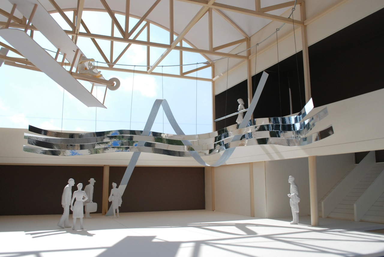 "Model of the sculpture ""Flights of Friendship"""