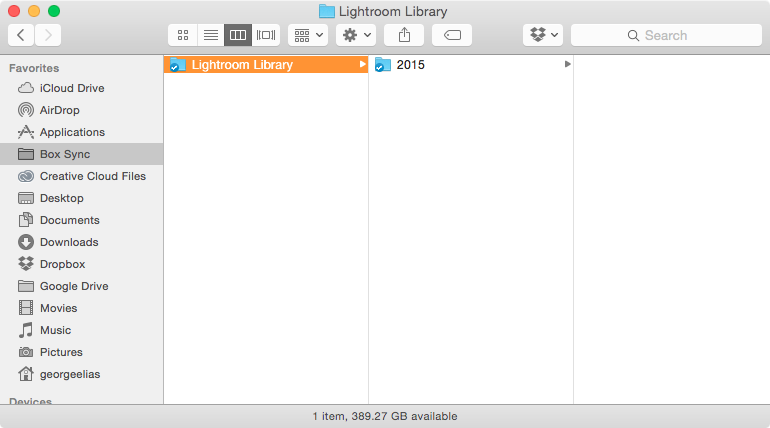My internal structure for Lightroom. Now all I have to do is re-log into my account if I lose them ever again.