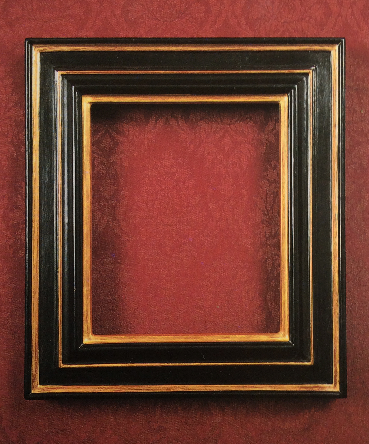 I've created all my own custom-made frames for each of my house and garden portraits. These were gessoed, ebonised, gilded, waxed and distressed to resemble European frames from the mid 17th century.