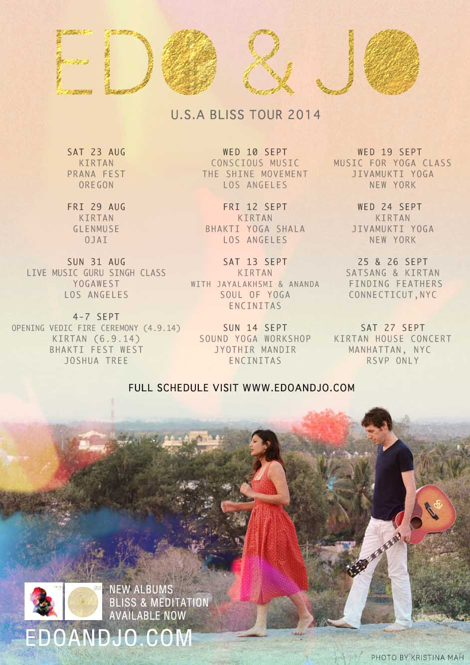 EDO AND JO USA TOUR 2014