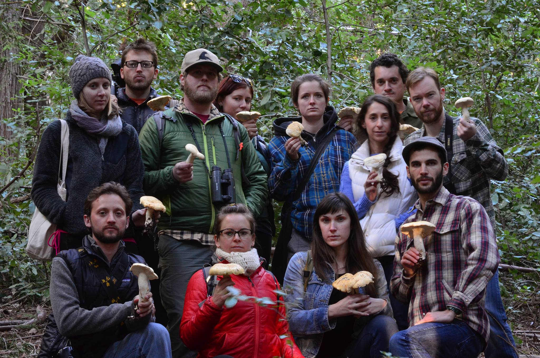 Mycophiles on New Year's Day.    Sign up for our free community New Year's Mushroom Walk here!