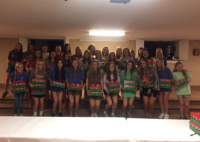 Our Crown Club girls and JA Members enjoyed packing shoe boxes for Operation Christmas Child!