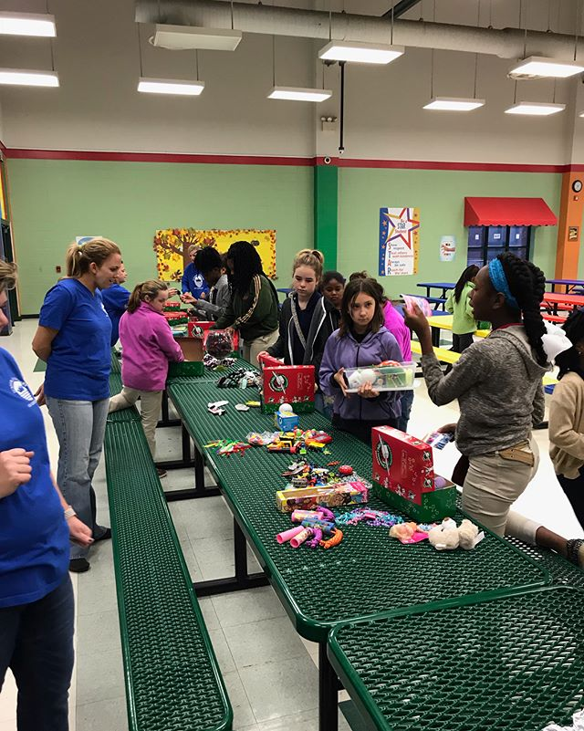 Our Ingenues held their Thanksgiving feast yesterday! After the girls ate, they packed Operation Christmas Child shoeboxes.The day ended by each one saying what they were thankful for.