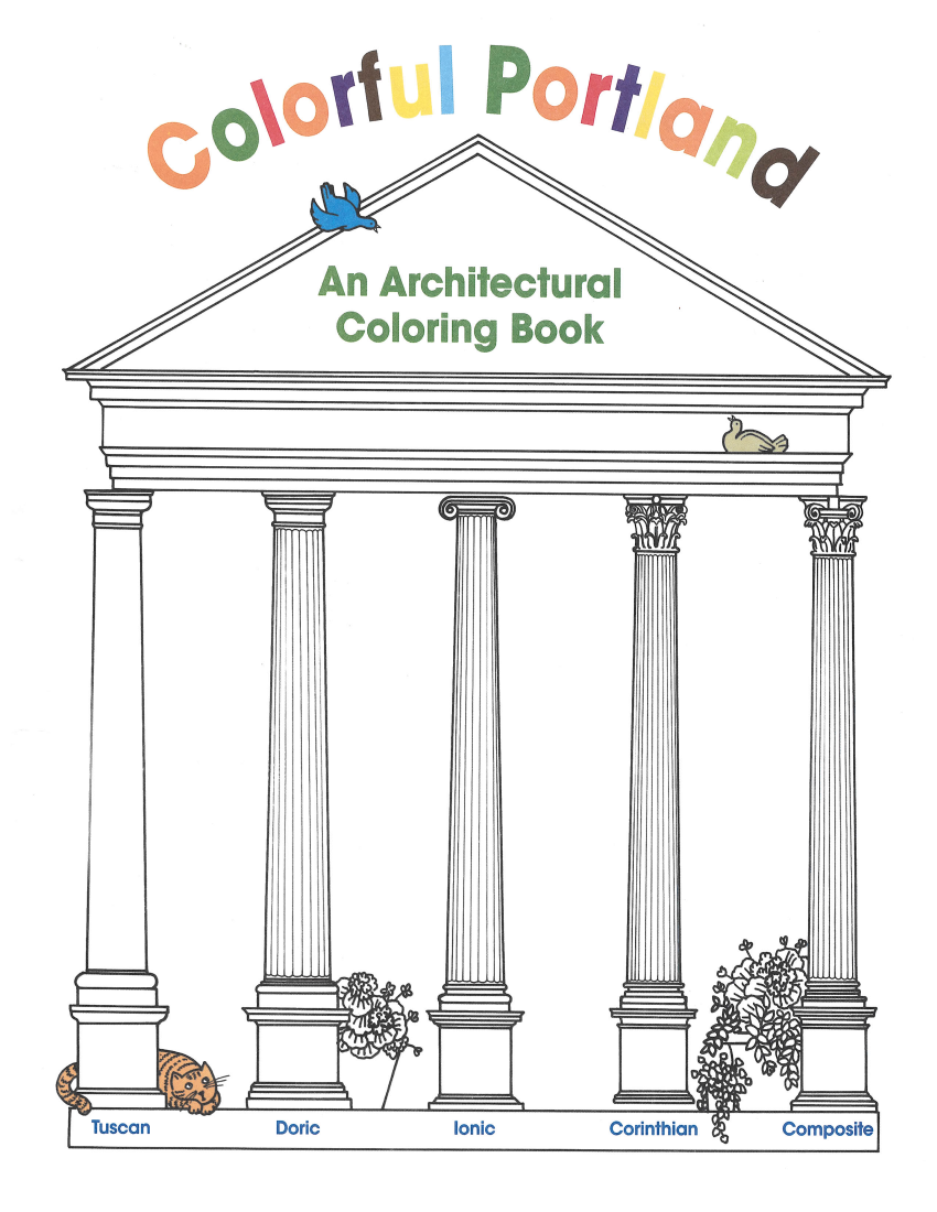Colorful Portland Coloring Book