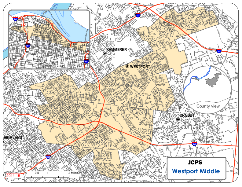 Westport Middle School Resides Area Map