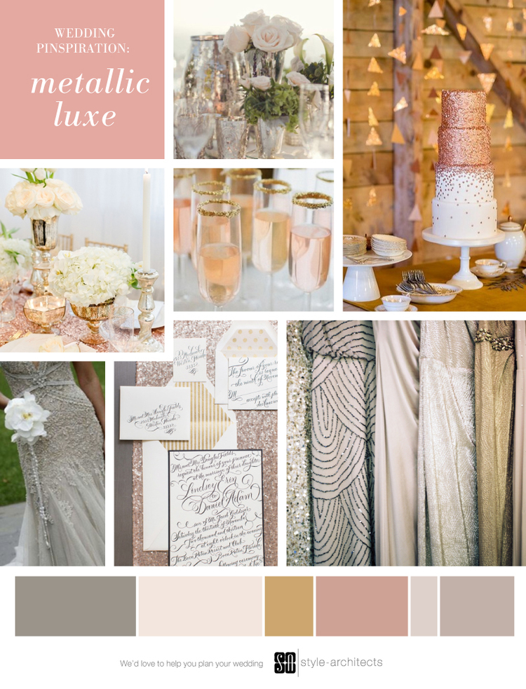 Wedding Pinspiration: Metallic Luxe via Style-Architects