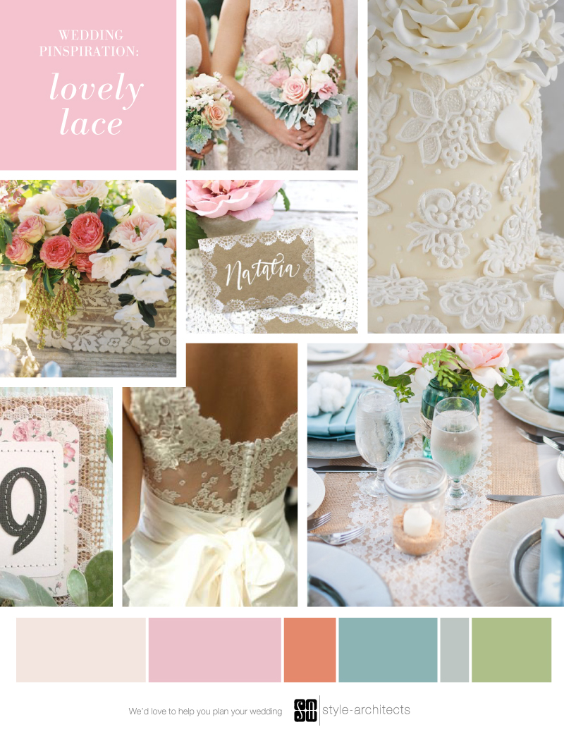 Wedding Pinspiration: Lovely Lace via Style-Architects Weddings