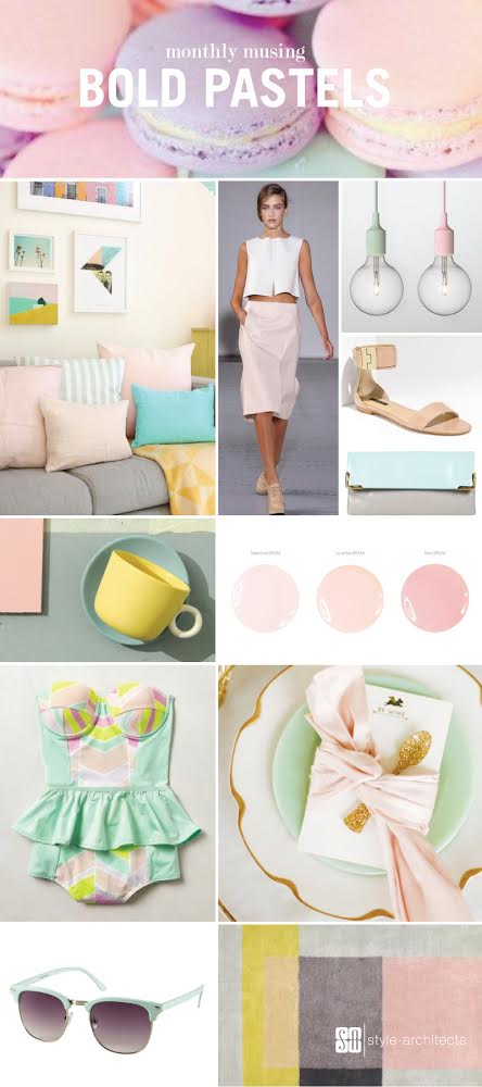Monthly Musing: Bold Pastels