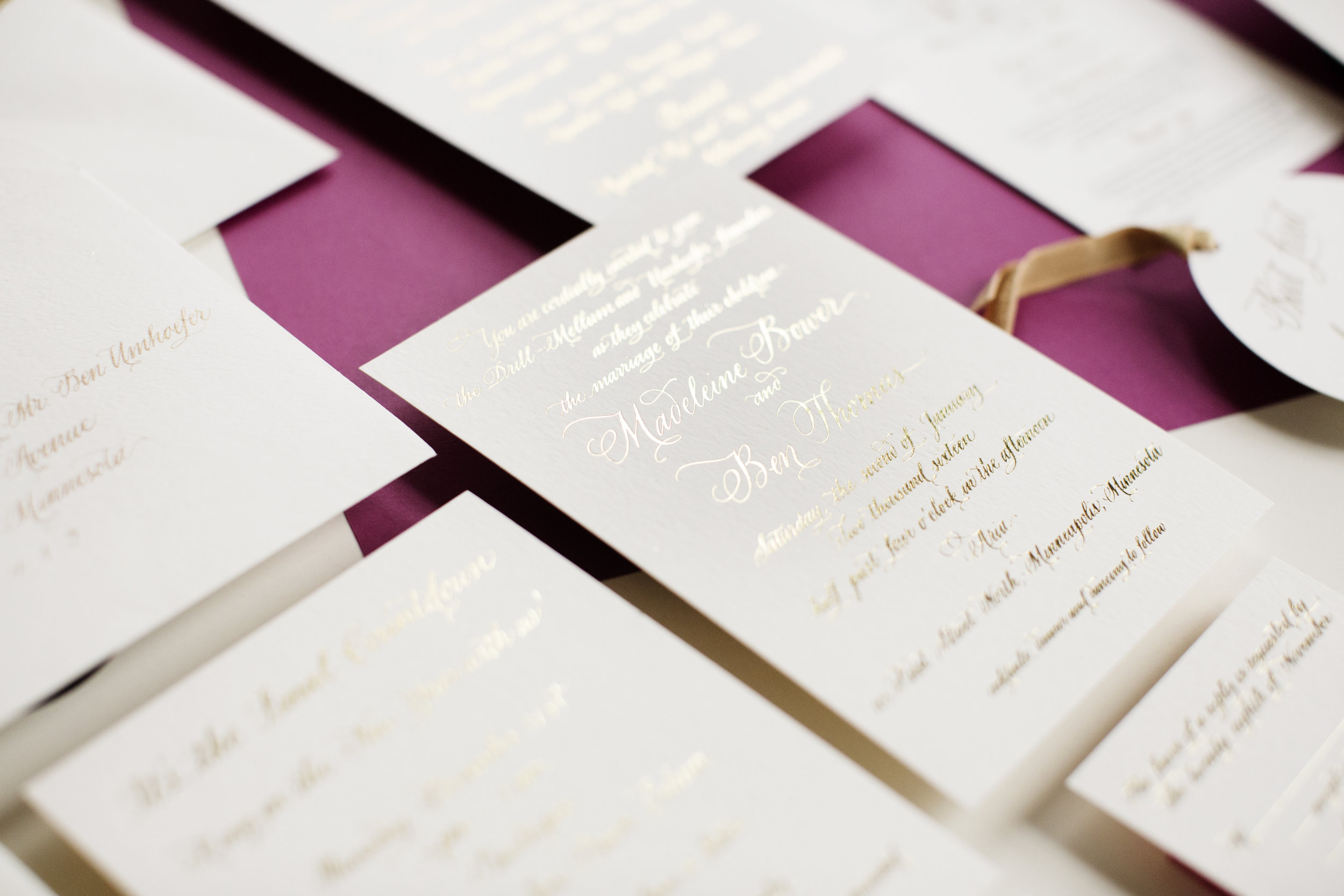 Foil Invitation - Photography by Photogen, Inc.