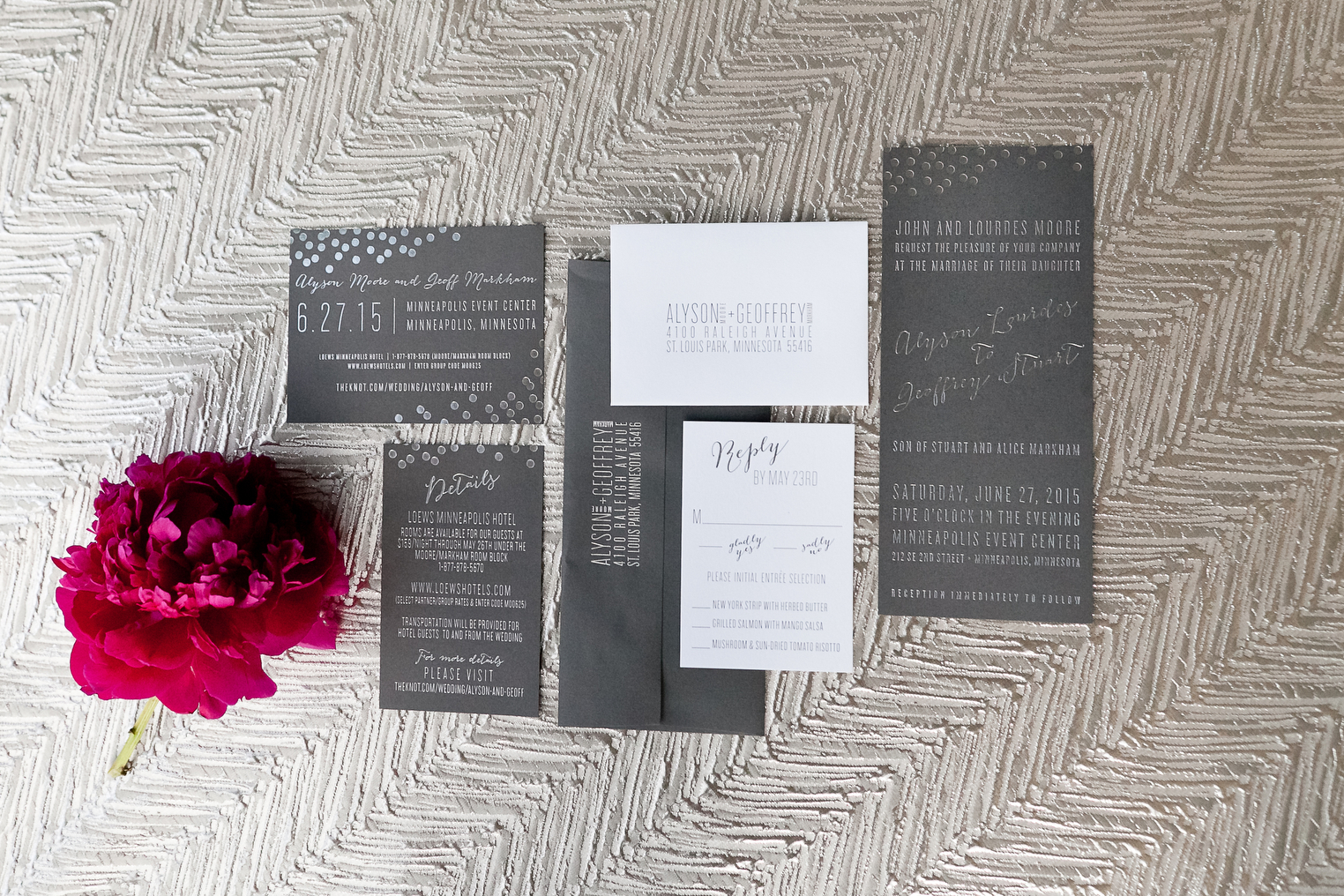 Spark Letterpress Invitations
