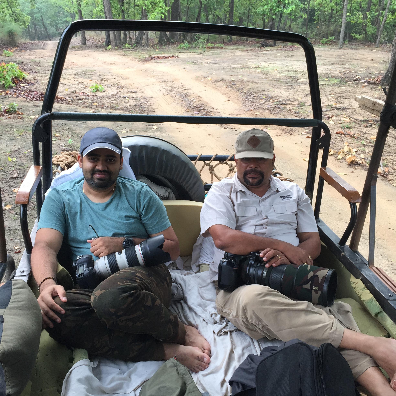With Mohanji in the customised safari jeep