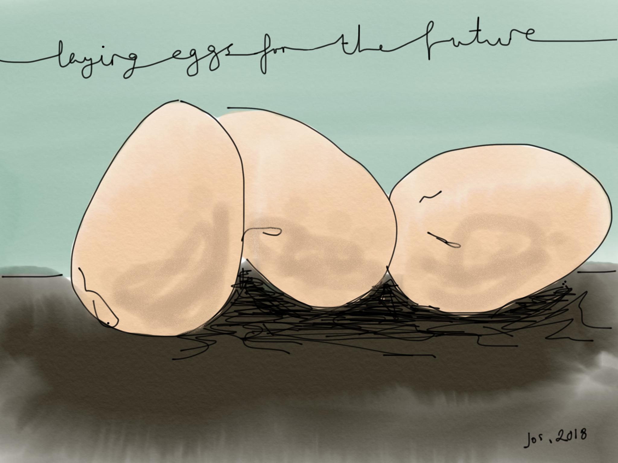 Hatcheries - The gift of old ageNurture the eggs, tender loveWatch, chicks will hatch