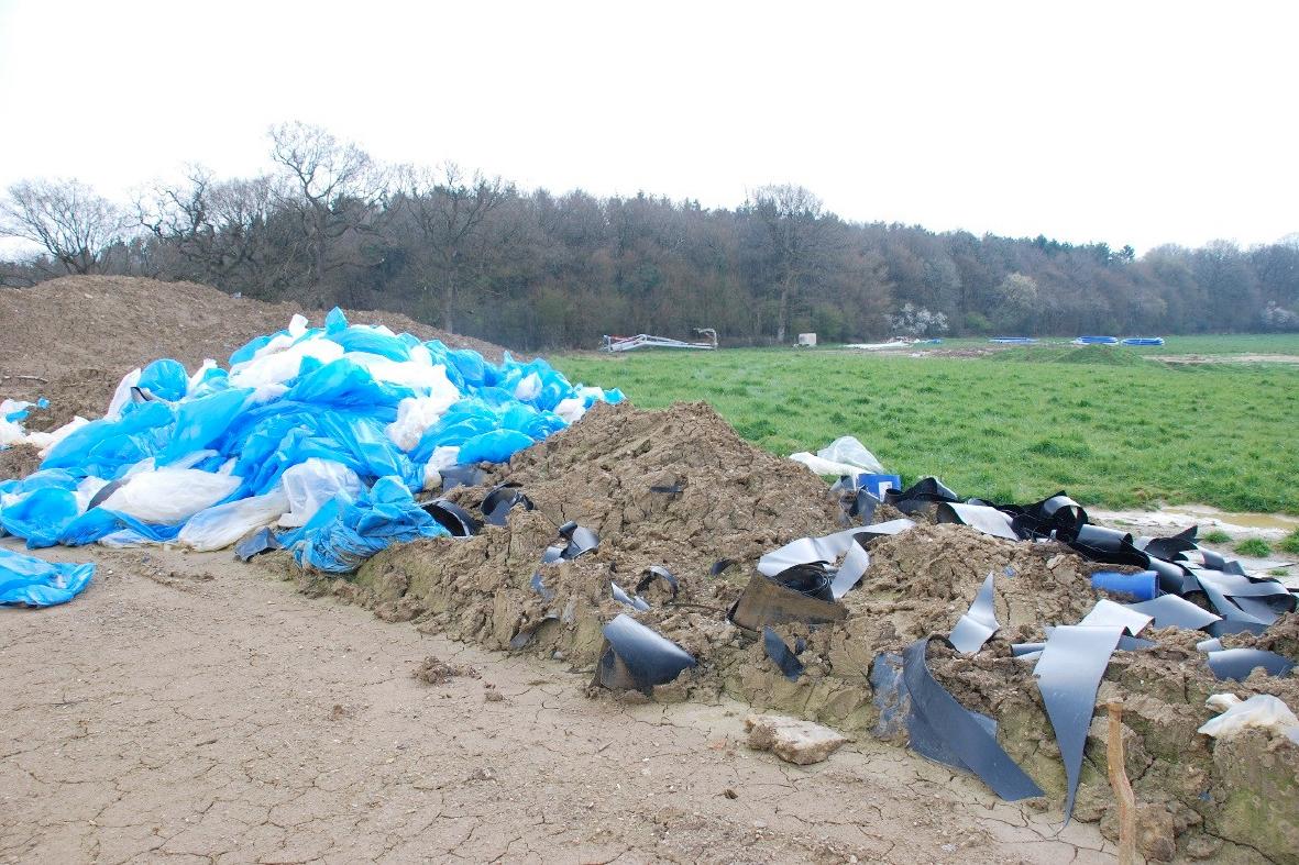 Discarded plastic rubbish