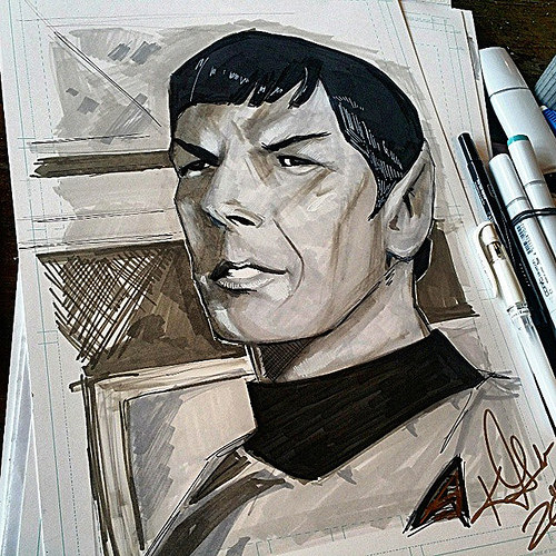 Mr. Spock by Kevlen Goodner