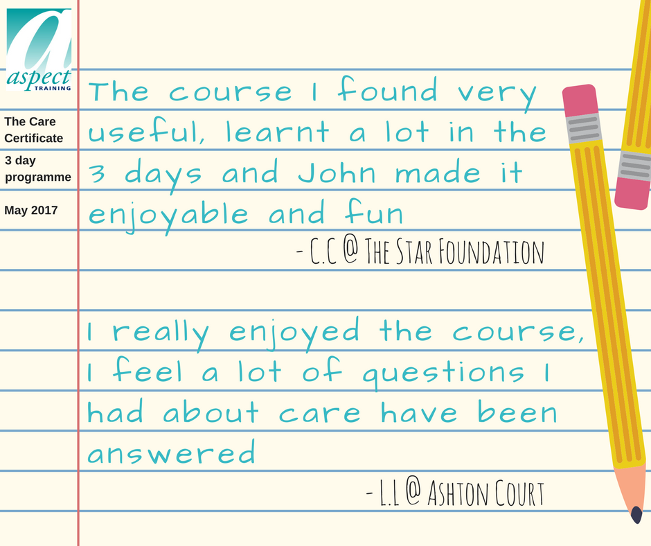 care certificate training rotherham feedback