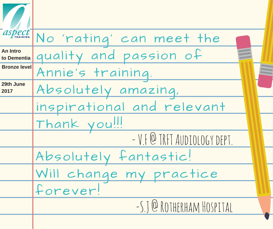 dementia awareness training rotherham feedback