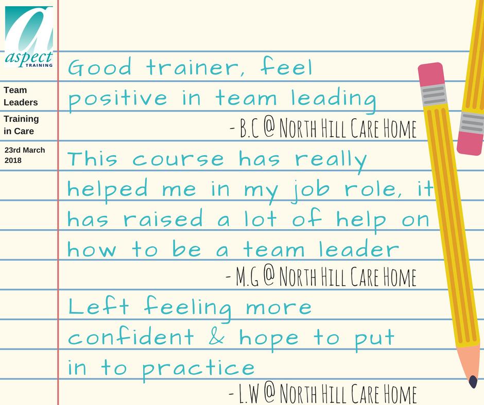 Team Leaders training Sheffield