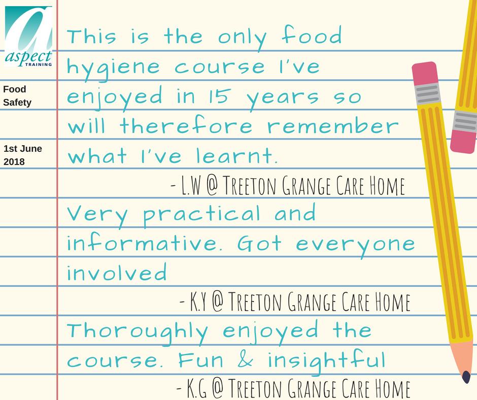 food safety training rotherham