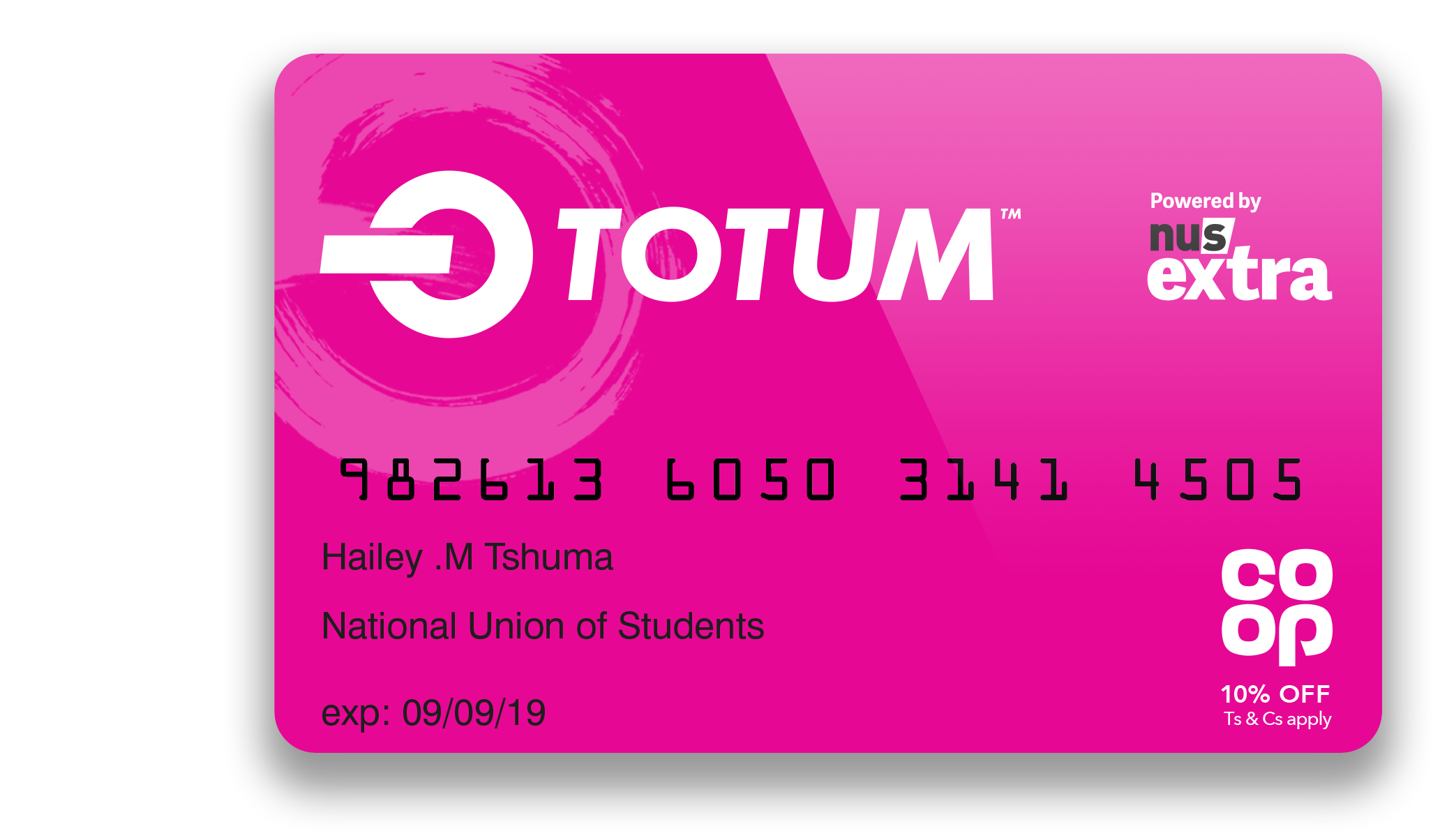 As an Aspect student, you can apply    here    for an NUS Totum student discount card.