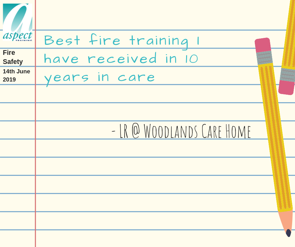 fire safety in care