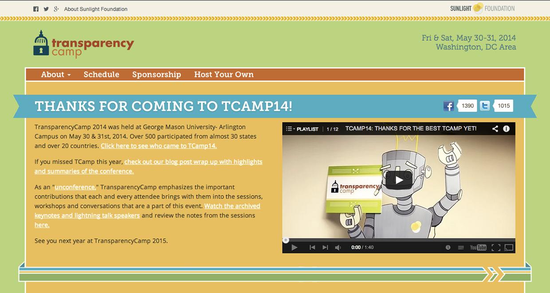 TransparencyCamp website