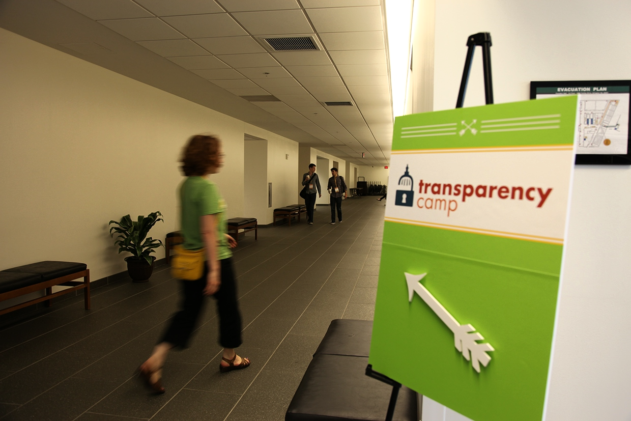 Sunlight Foundation's directional signage for TransparencyCamp