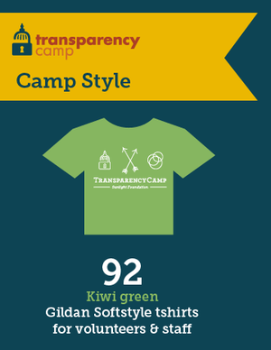 92 transparency camp tshirts were distributed.