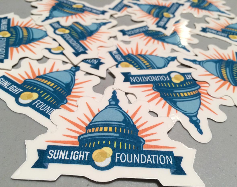 Sunlight Foundation stickers