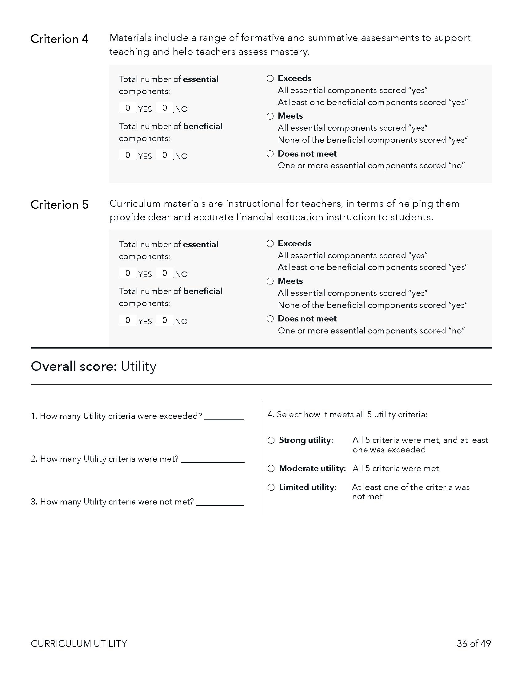 CRT utility scoring