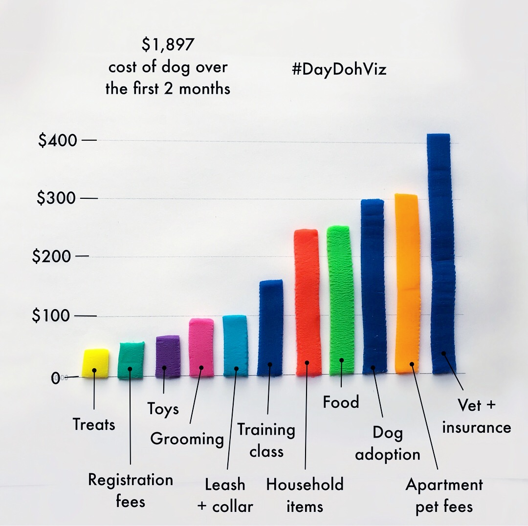 Total costs by category of dog ownership over the first 2 months
