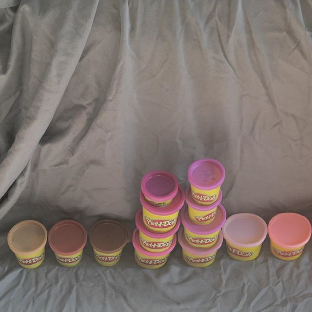 All 15+ pounds of play-doh stacked in color order #daydohviz #whathaveigotmyselfinto #ohshit #myapartmentistoosmall