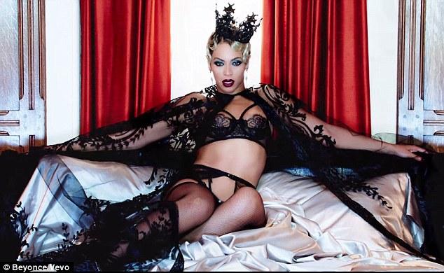 Case in point: Beyoncé (   Haunted   ) in Michael Cinco FW 13 & a black Swarovski crystal crown