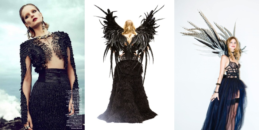 Whether it's in   high fashion   or the   Victoria's Secret      fashion show   , the new gothic princess is a beautiful nightmare