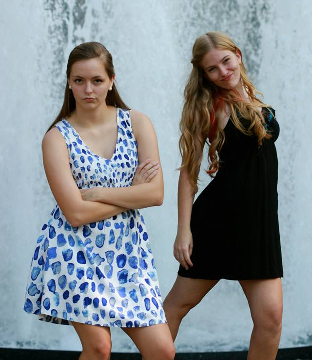 Catie & I portraying each other's personalities. Short & grumpy / tall & full of it ;)