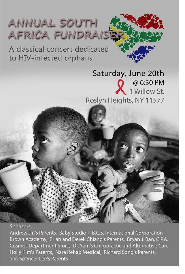 June 2015 Fund Raising for S. Africa HIV-Infected Orphans