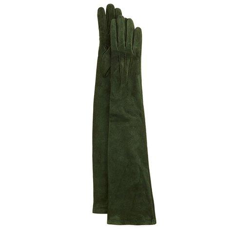 Gaunt uzun süet eldiven, $245