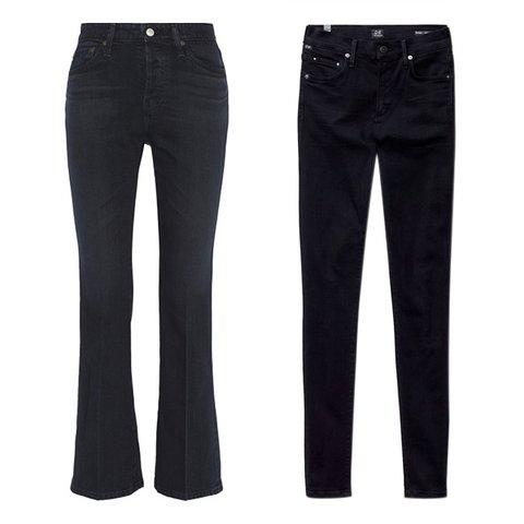 Hafta Sonu ŞIklığı    Alexa Chung AG Jeans için tasarladığıRevolution yüksek bel boru paça kot pantolon, $140,  net-a-porter.com  ; Citizens of Humanity Rocket Axel kot pantolon, $178,  aritzia.com