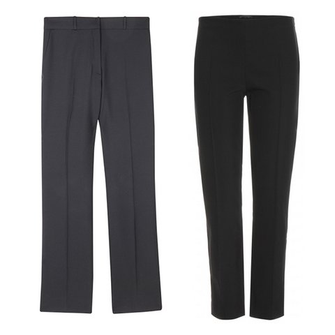 Ofis Şıklığı    Sandro Pria pantolon, $228,  sandro-paris.com  ; The Row Shama koton pantolon, $775,  mytheresa.com