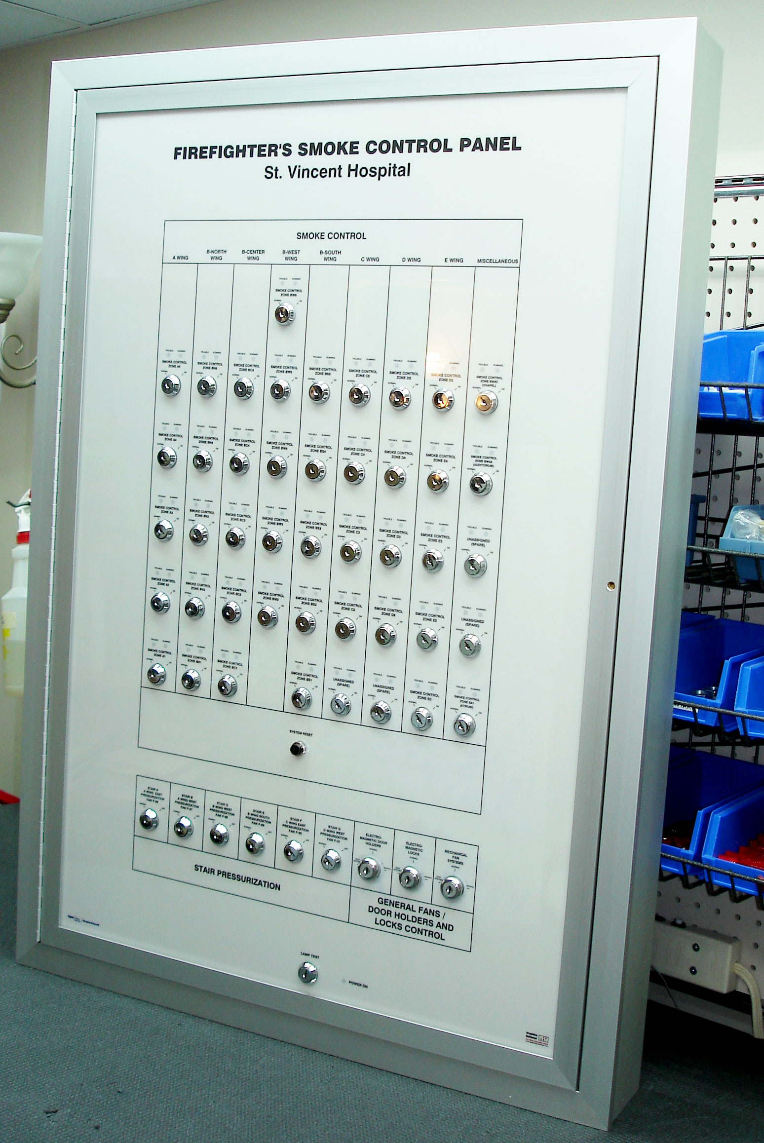 Smoke Control Panel - Keyed Switches