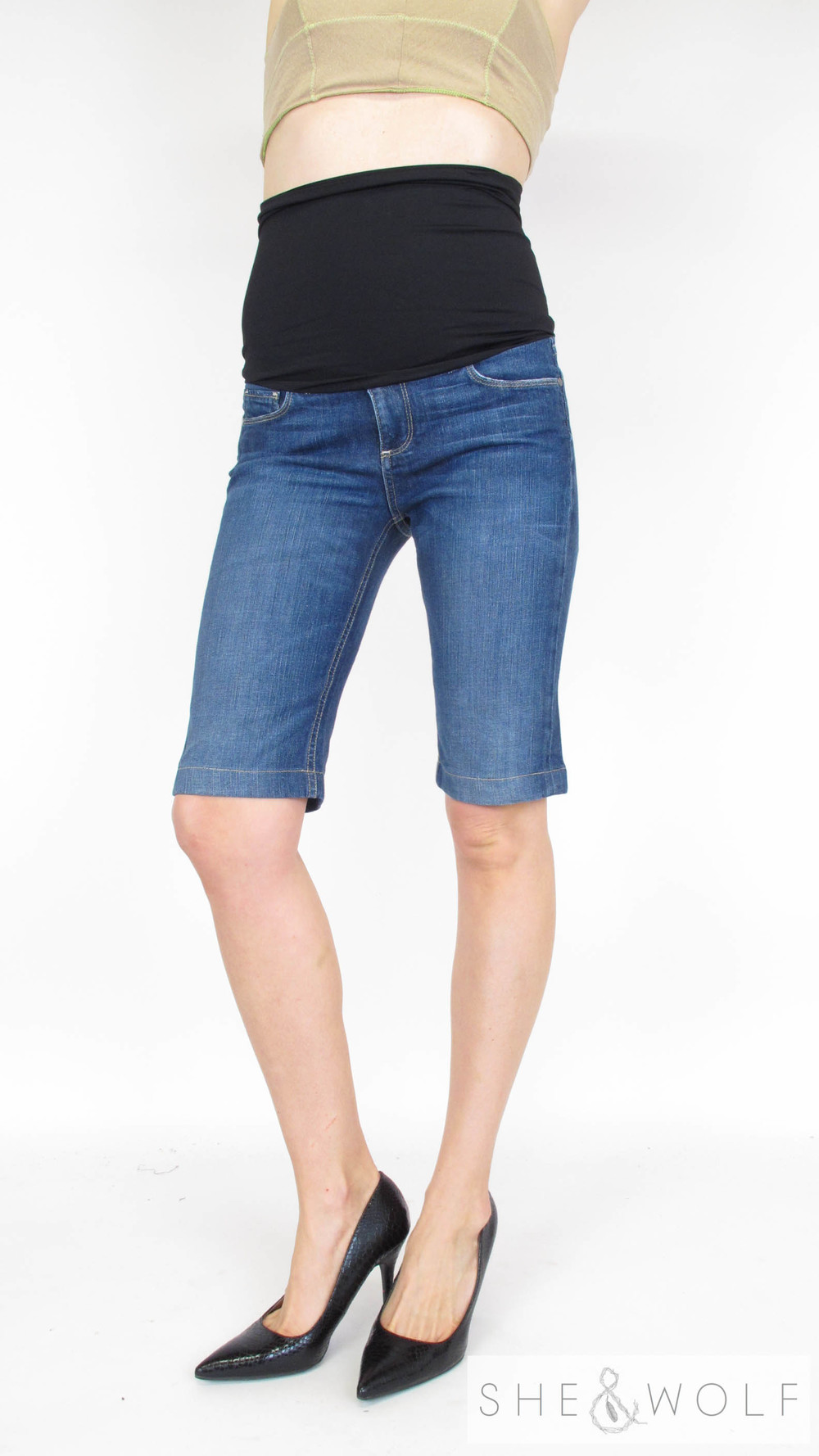 Paige Premium Denim Maternity Jean Shorts 29 She Wolf