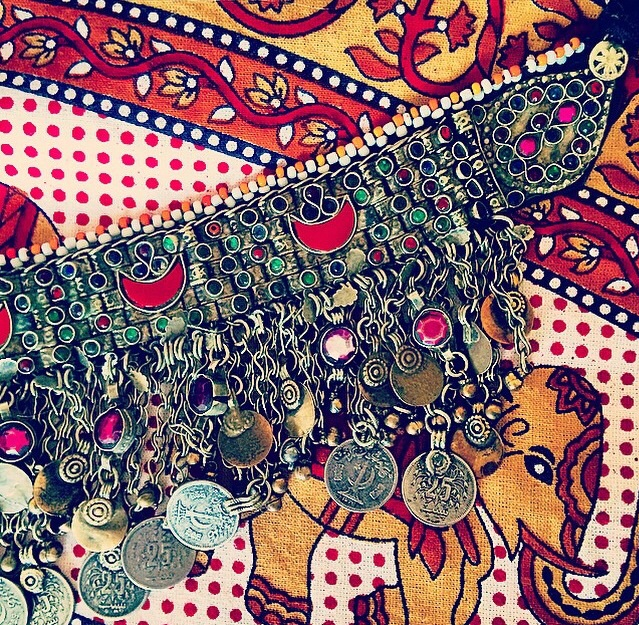 H&F Tribal Collection - Handmade vintage coin choker.