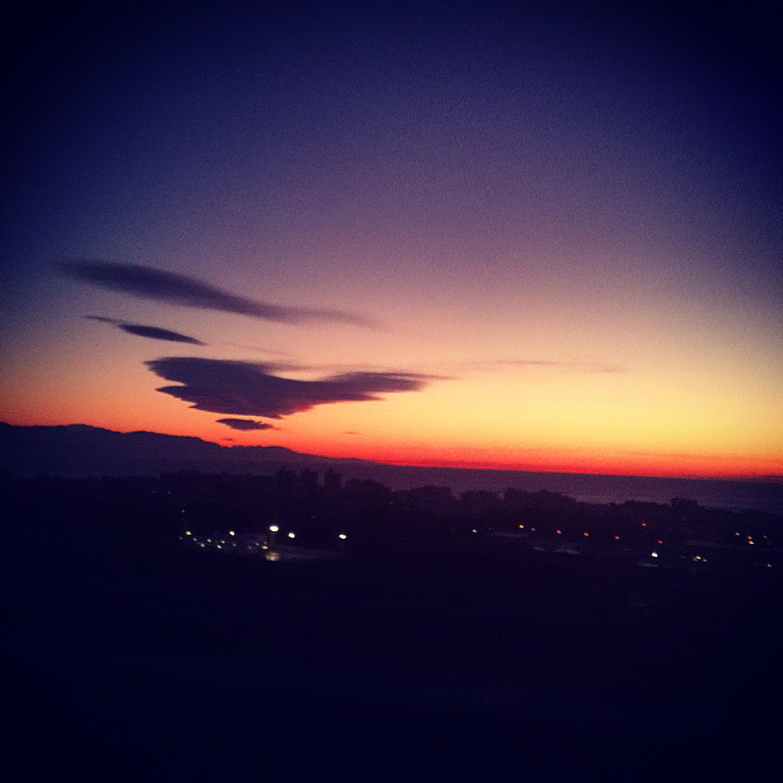 Magnificent sun rise in Malaga!