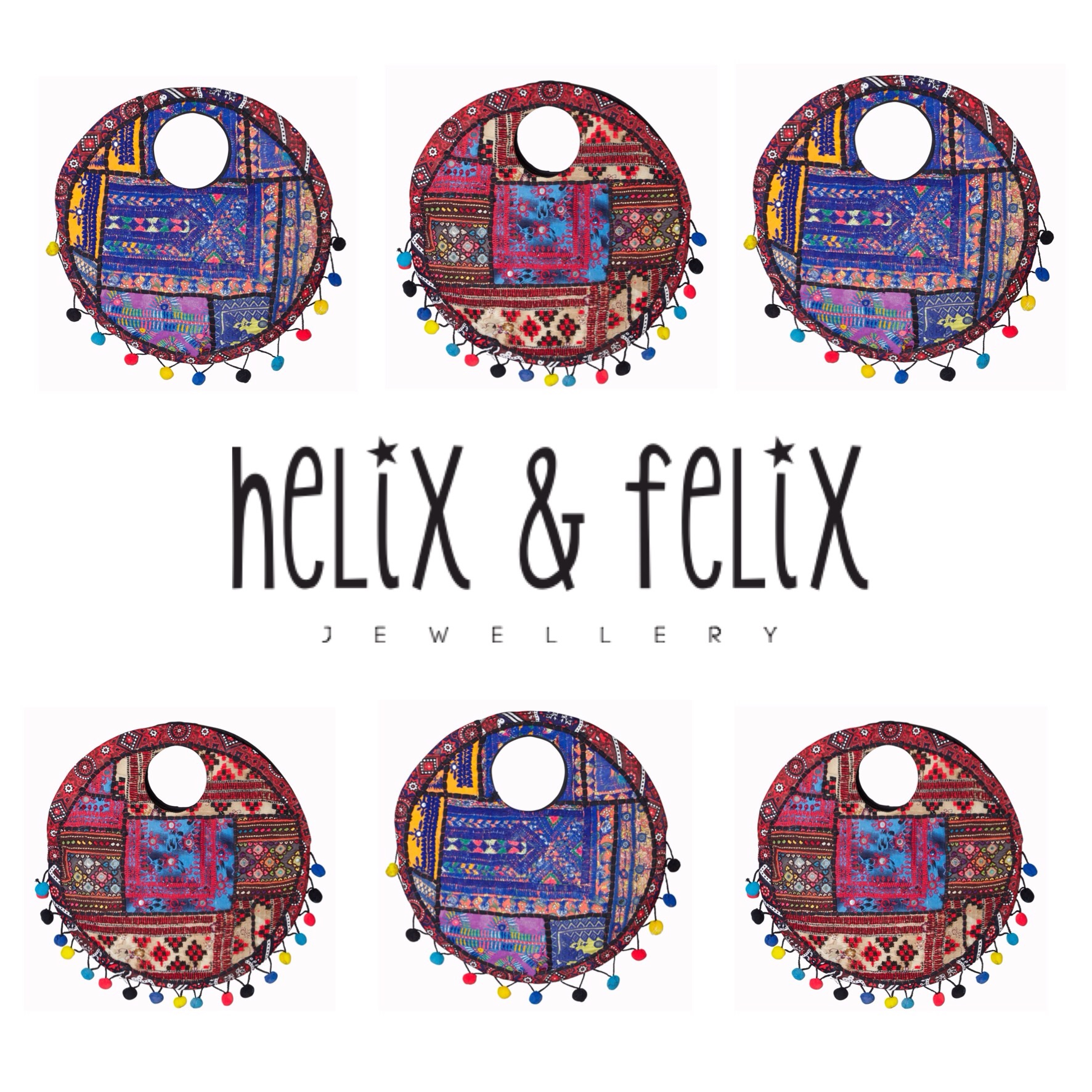 Helix and Felix Pom Pom Bags