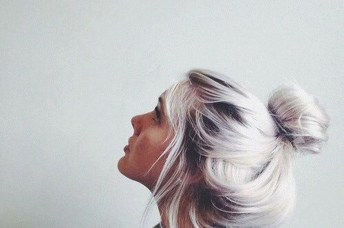 Messy bun is all for Sunday fun.
