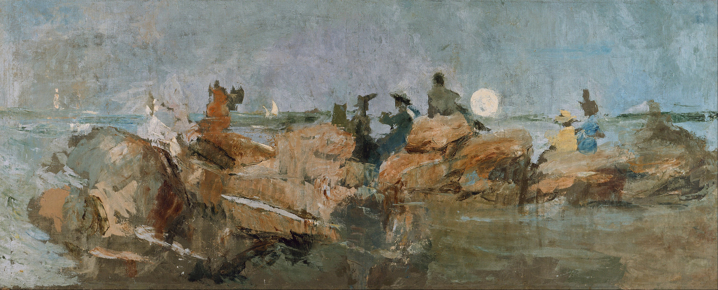 Ignacio Pinazo Camarlench, Sunset on the Jetty III, Institut Valencià d'Art Modern (IVAM)