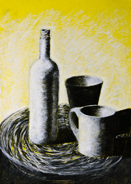 Charcoal and chalk